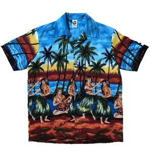 Stunning Kennington Hula Girl Hawaiian Shirt